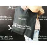 MixParfums экосумка-шопер из бязи черная 37х40 плотность 145 г/м2 – фото 1