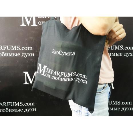 MixParfums экосумка-шопер из бязи черная 37х40 плотность 145 г/м2
